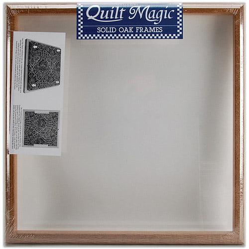 "Quilt Magic Solid Oak Frame, 15-1/2"" x 15-1/2"""