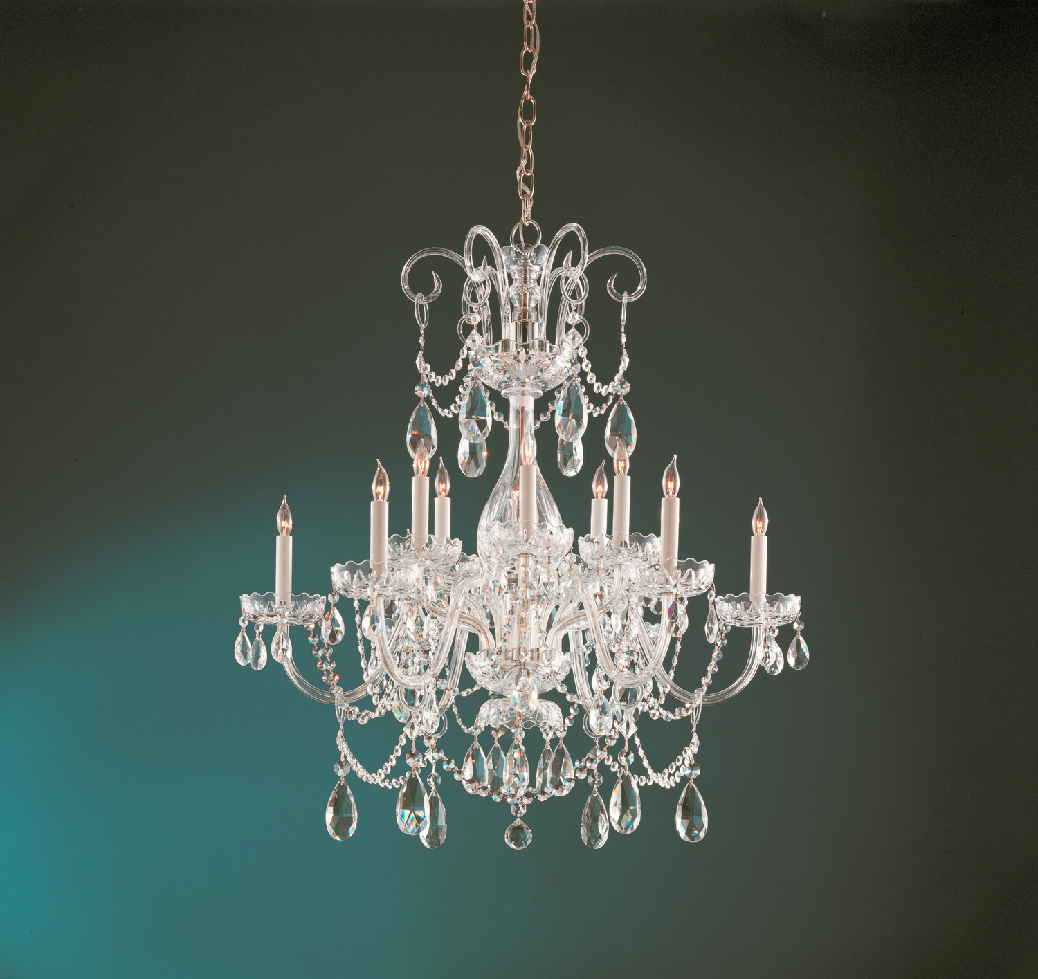 Crystorama 1035-PB-CL-MWP 12 Light Chandelier by Crystorama