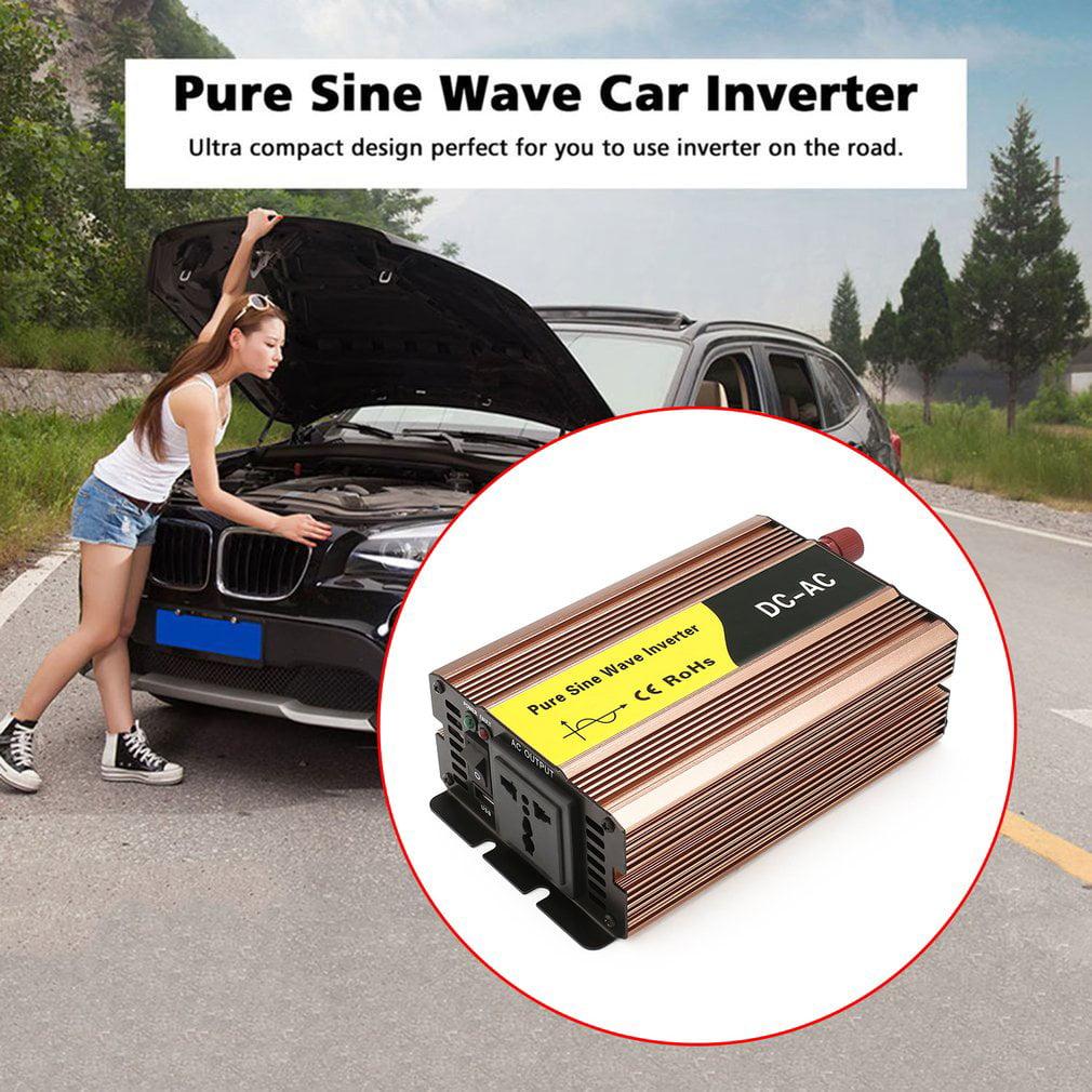 2018 Thanksgiving,Pure Sine Wave Car Inverter 300W DC12V To AC220V USB Converter Transformer