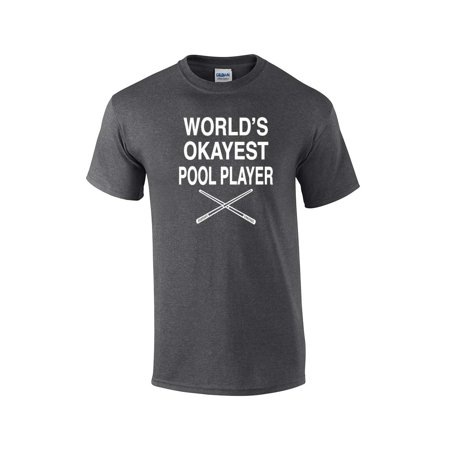 284d30fd7 Trenz Shirt Company - Funny Billiards T-Shirt World's Okayest Pool Player -  Walmart.com