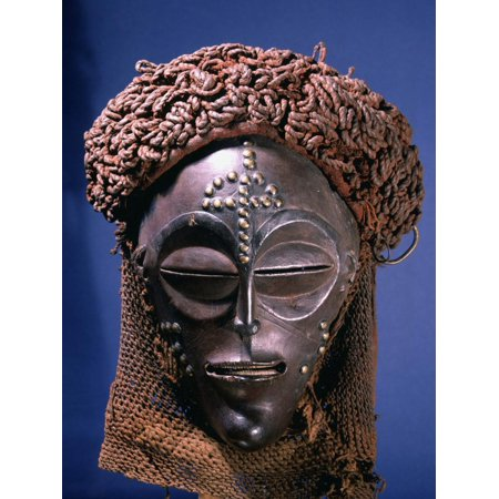 Chokwe dance mask of a type known as Mwana Pwo, Angola or DR Congo, 19th or 20th century Print Wall Art By Werner Forman