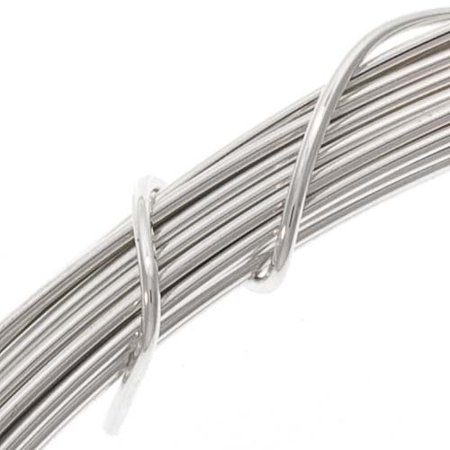 1 Ounce (24 Ft.) Sterling Silver Wire 21 Gauge - Round-Half Hard
