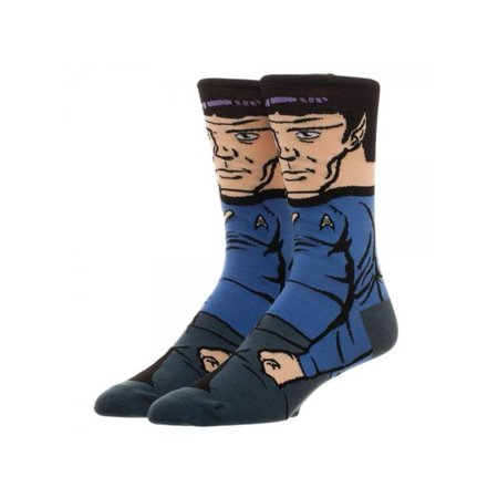 Star Trek Spock 360 Crew Socks W Gift Box By Superheroes Brand