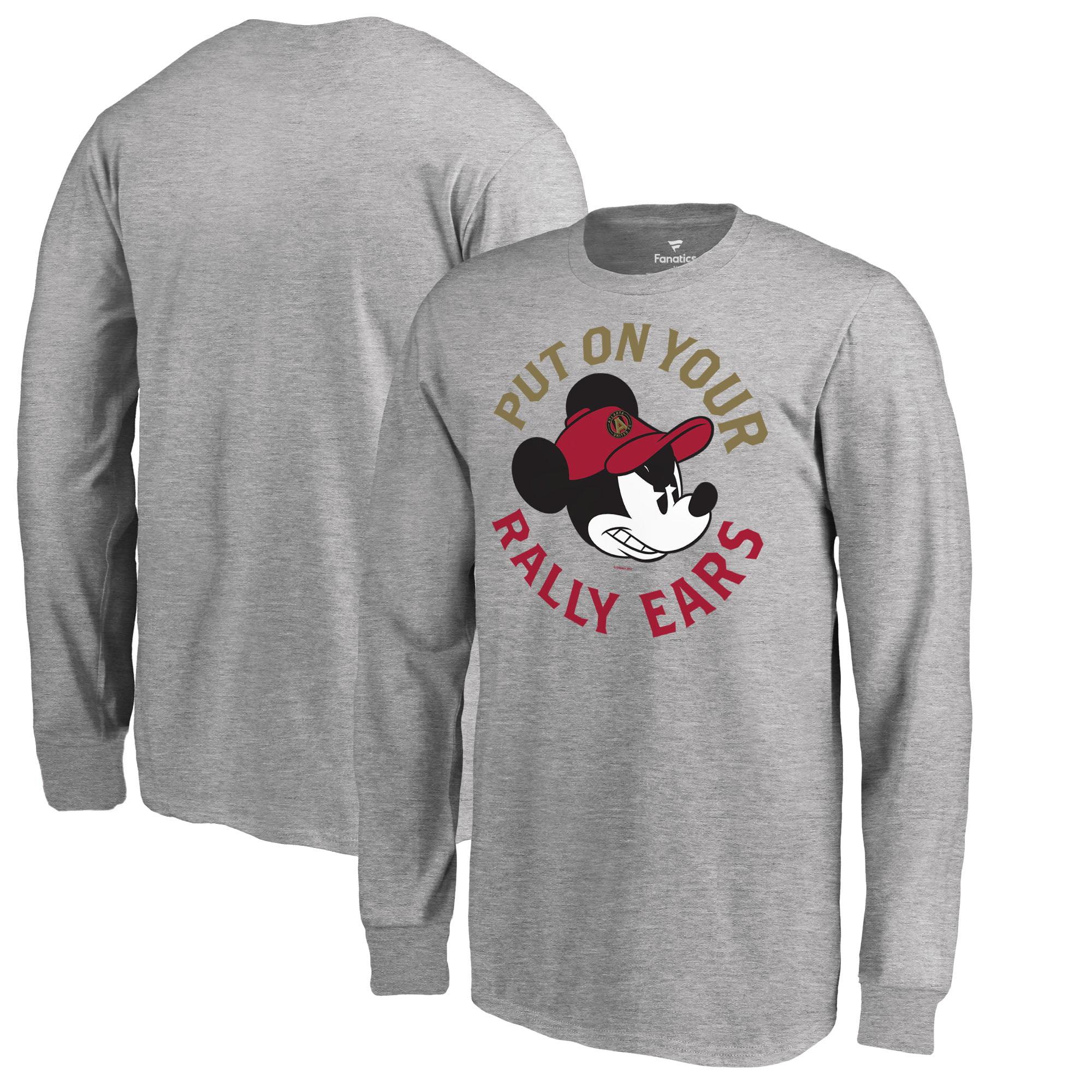 Atlanta United FC Fanatics Branded Youth Disney Rally Ears Long Sleeve T-Shirt - Heathered Gray