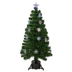 2 Pre Lit Fiber Optic Bonsai Style Artificial Pine Christmas Tree Multi Walmart Com Walmart Com