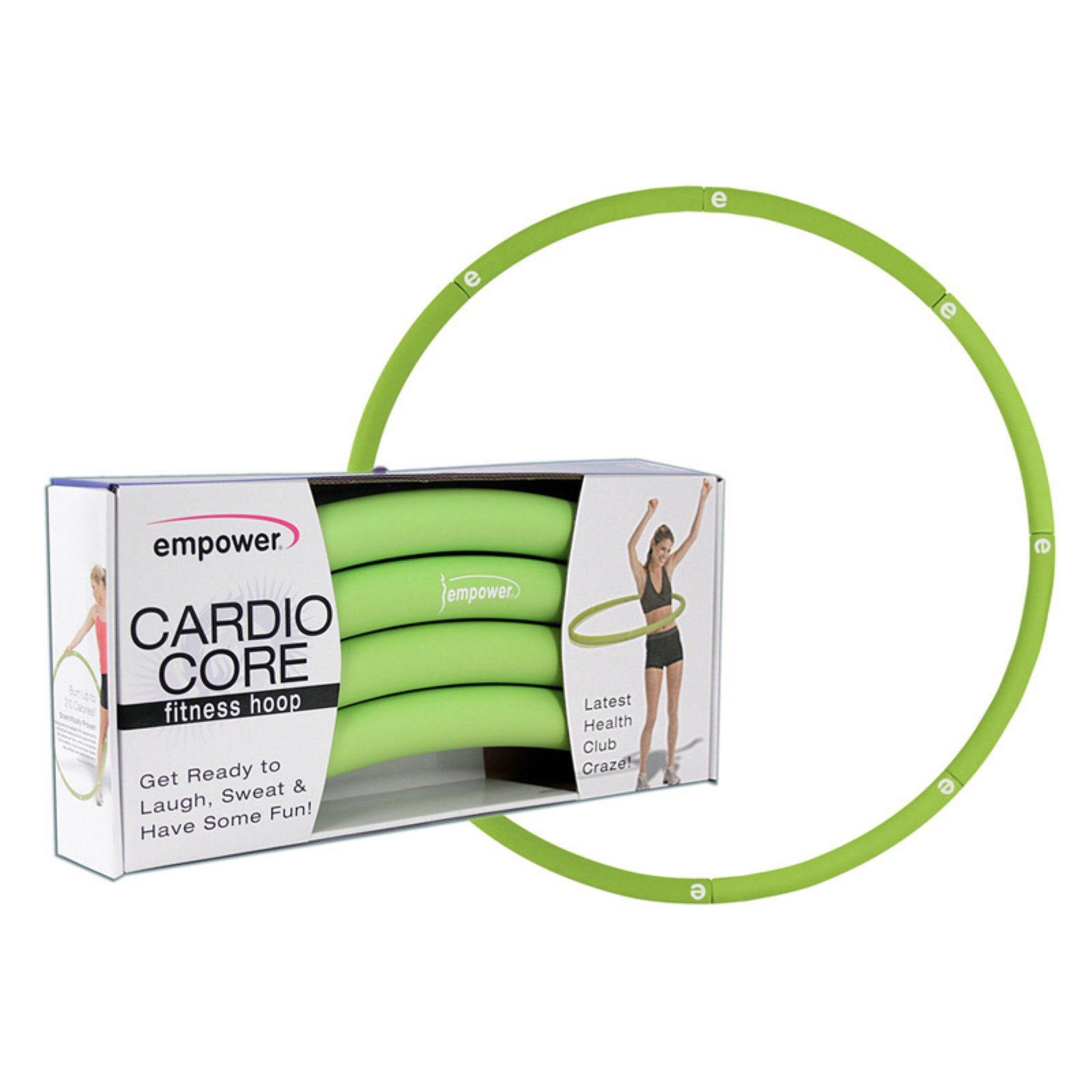 Empower Cardio Core Fitness Hoop with Chart