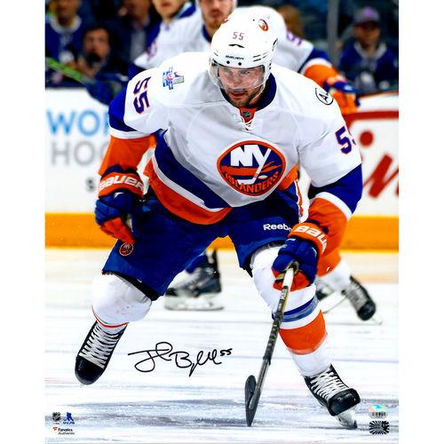 "Johnny Boychuk New York Islanders Fanatics Authentic Autographed 16"" x 20"" White Jersey Skating Photograph No... by Fanatics Authentic"