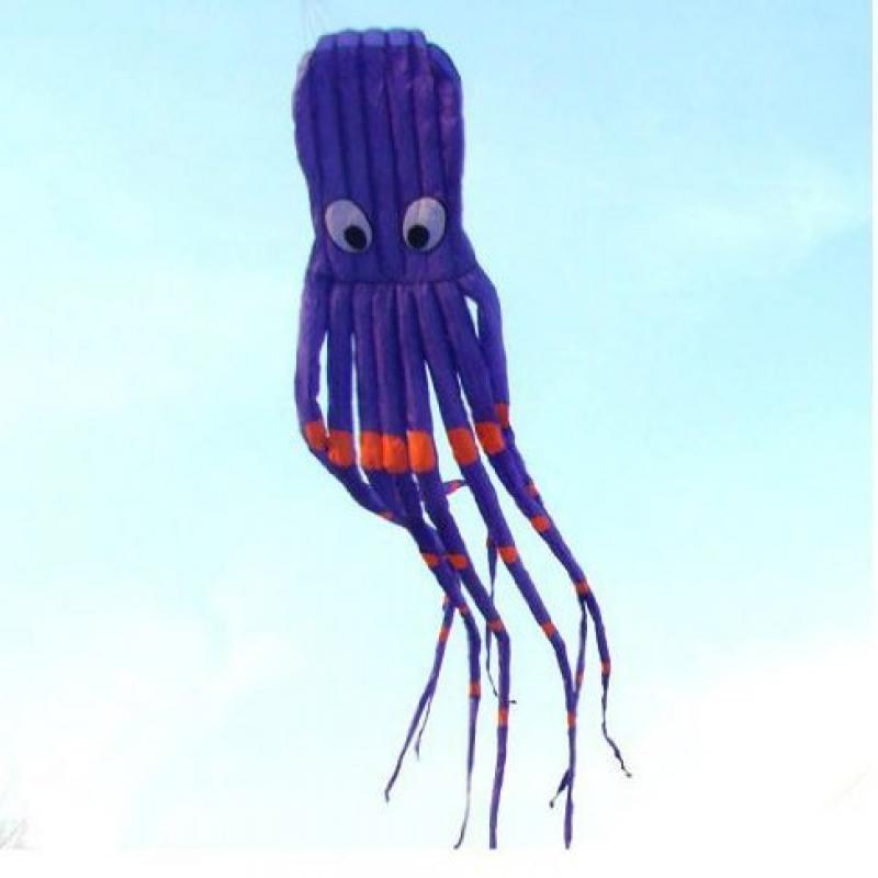 7M Large Octopus Parafoil Kite with Handle & String, Beac...