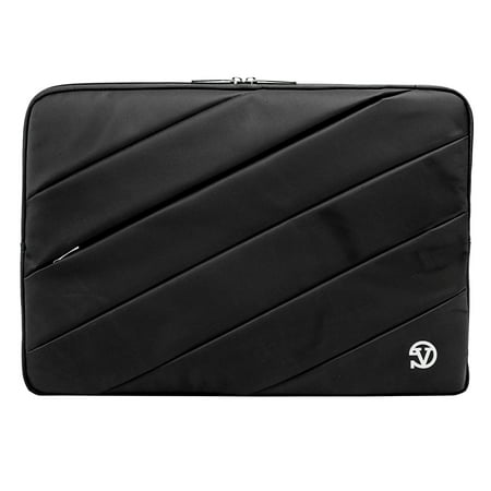 Jam Padded VANGODDY Rugged Universal Sleeve fits Dell Laptops up to 16.25 x 11 Inches Padded VANGODDY rugged Jam sleeve for all Dell laptops up to 16.25 x 11 x 2 inches. Rugged water repellant padded design keeps your laptop safe from bumps, scratches, and the elements. Soft interior with raised padded bumps protects your laptop from damage. Top opening zipper design keeps your laptop secure and easily accessible. Perfect for that student or business person always on the go, keep your laptop safe and secure with this premium Jam sleeve laptop case from VANGODDY.