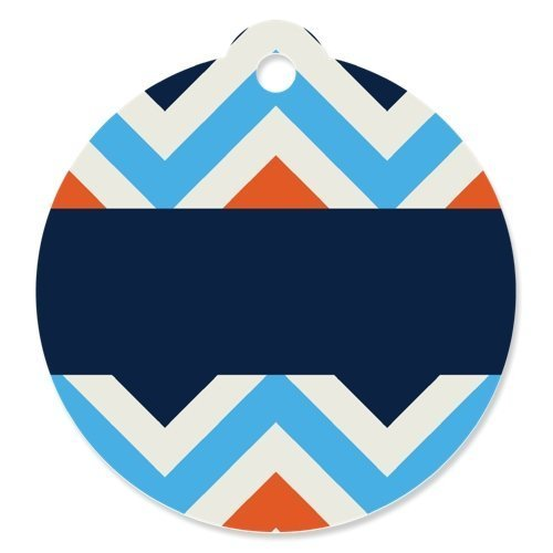 Chevron Boy Bruffday - Party Favor Tags (Set of 20)