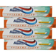 4 Pack Aquafresh Fluoride Toothpaste Extreme Clean Fresh Mint 5.6 Ounce