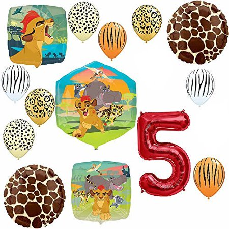 Lion Guard Safari 5th Birthday Party SuppliesBalloon Decoration Kit - Party City Lion