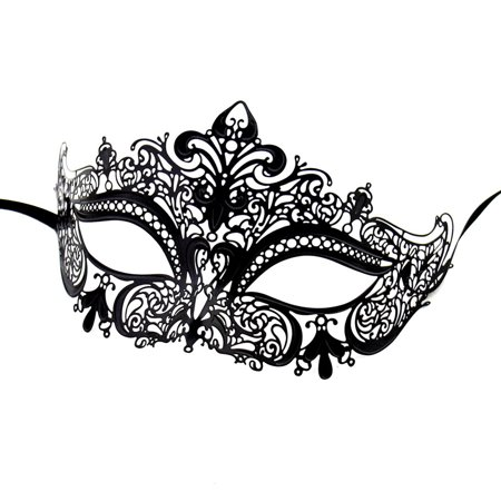 Masquerade Mask, Coxeer Laser Cut Metal Venetian Pretty Christmas Mardi Gras Halloween Cosplay Wedding Party Mask for Women - Rated K Halloween Wedding