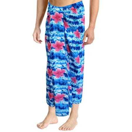 La Leela Beach Wear Mens Sarong Pareo Wrap Cover Ups Bathing Suit Resort Towel Swimwear