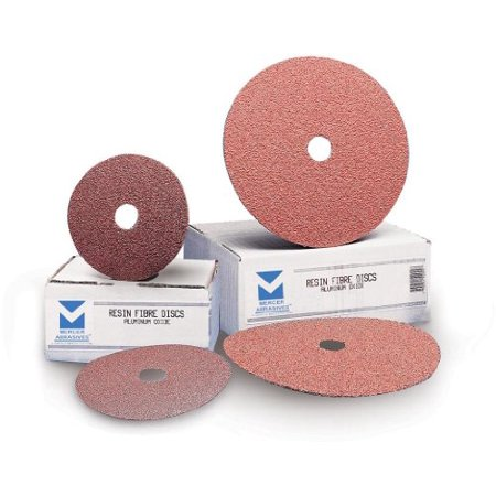 Mercer Abrasives 305024-25 9-1/8-Inch by 7/8-Inch Aluminum Oxide Resin Fibre Discs, 24 Grit, 25-Pack - image 1 of 1
