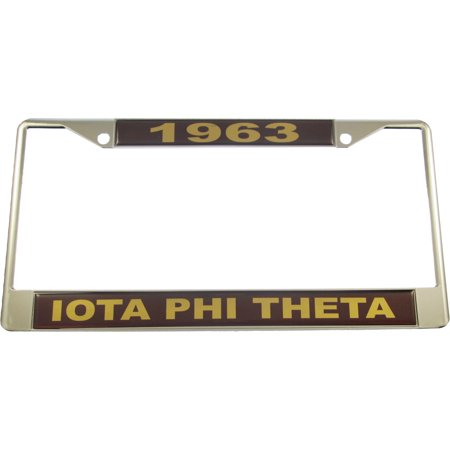 Iota Phi Theta 1963 Domed License Plate Frame [Silver - Car/Truck]