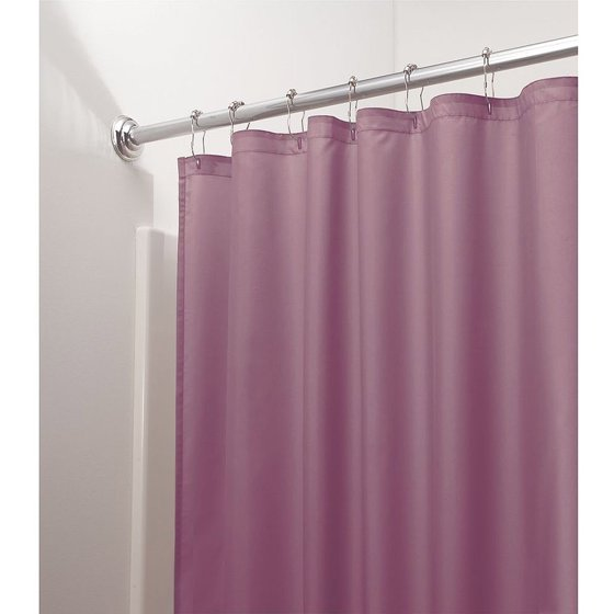 InterDesign Mildew-Free, Water-Repellent Fabric Shower Curtain ...