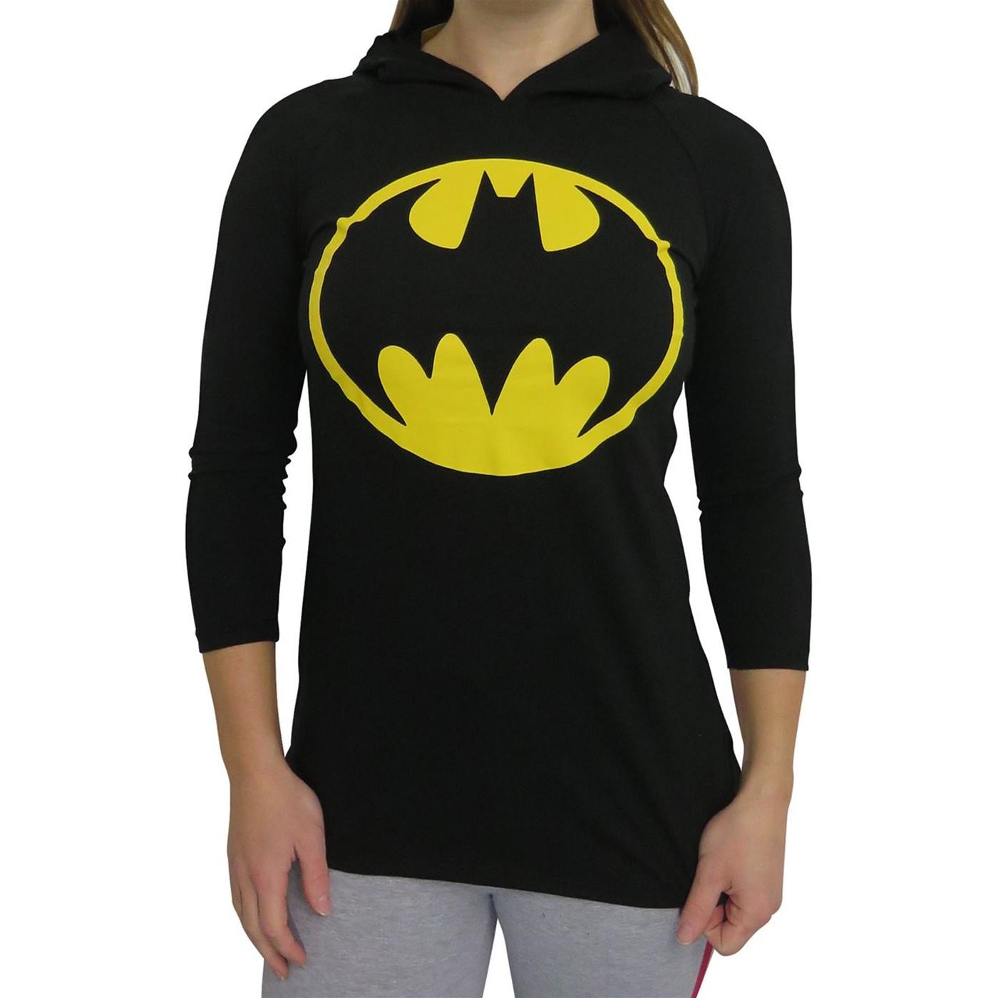 Batman Juniors/' Women Gray and Black Graphic Long Sleeve Sweatshirt Winter RK
