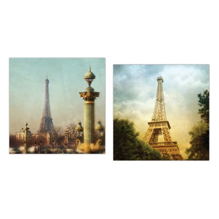 Stunning Photograph Prints Of The Eiffel Tower Paris France By Amy Melious  Two 12X12in Poster Print