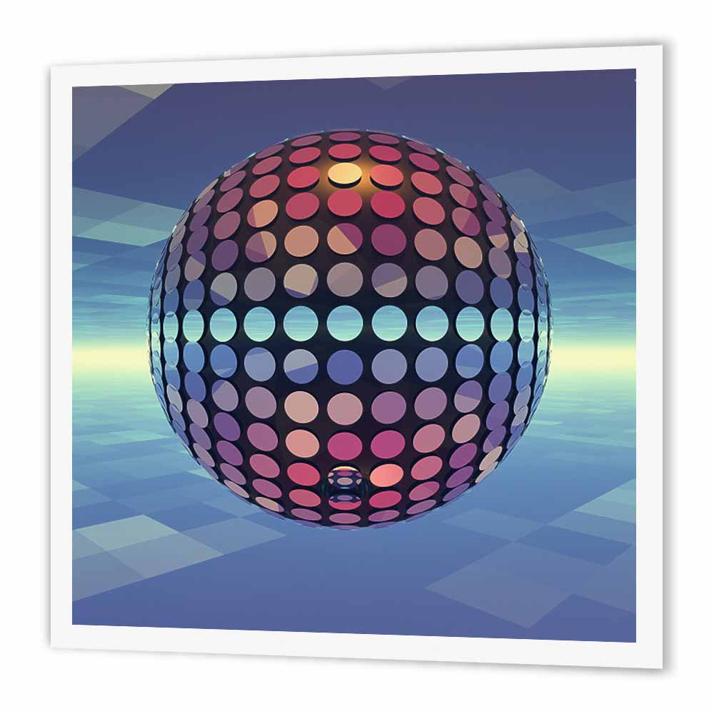 3dRose Mirror Ball reflecting mirror disco ball dances in the atmosphere above Earth, Iron On Heat Transfer, 6 by... by Supplier Generic