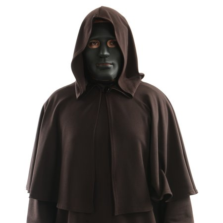 Full Face Mask Adult Costume Black - Black Face Mask Costume