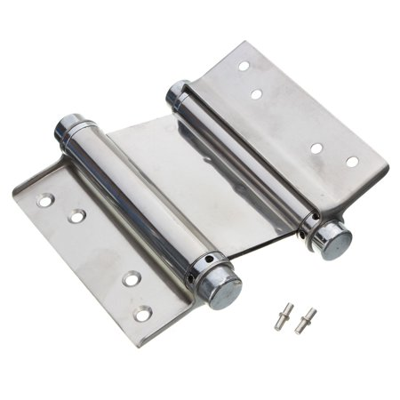 """4PCS 4"""" Inch Stainless Steel Double Action Spring Hinge Hardware Cafe Saloon Door Hinge Swing Free Door Kitchen Gate With Screws - image 1 of 9"""
