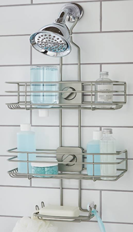 Product Image Better Homes U0026 Gardens Adjustable Shower Caddy, Satin Nickel