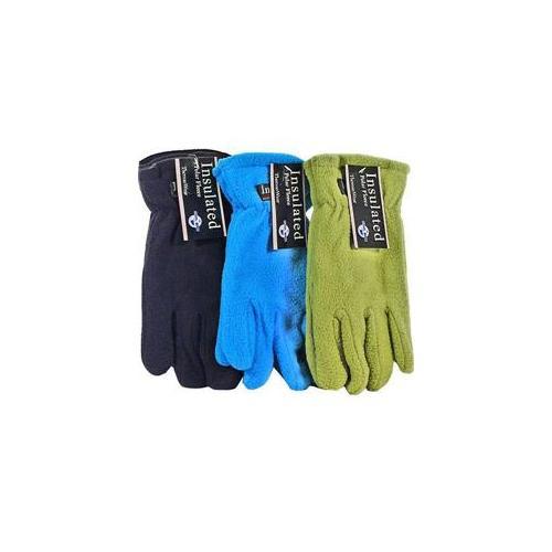 Bulk Buys Ladies Polar Fleece Gloves Asst Colors - Case of 12