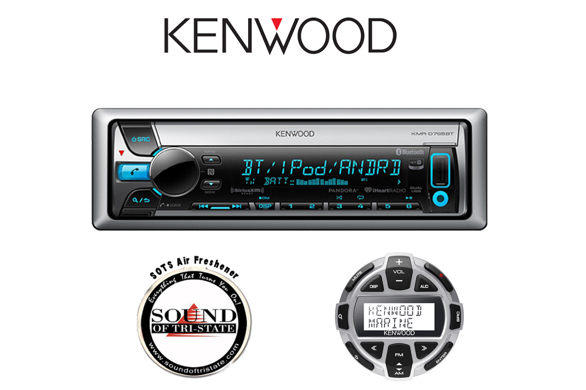 Kenwood KMR-D765BT Marine CD Player w  Built in Bluetooth & KCA-RC55MR Remote by Kenwood