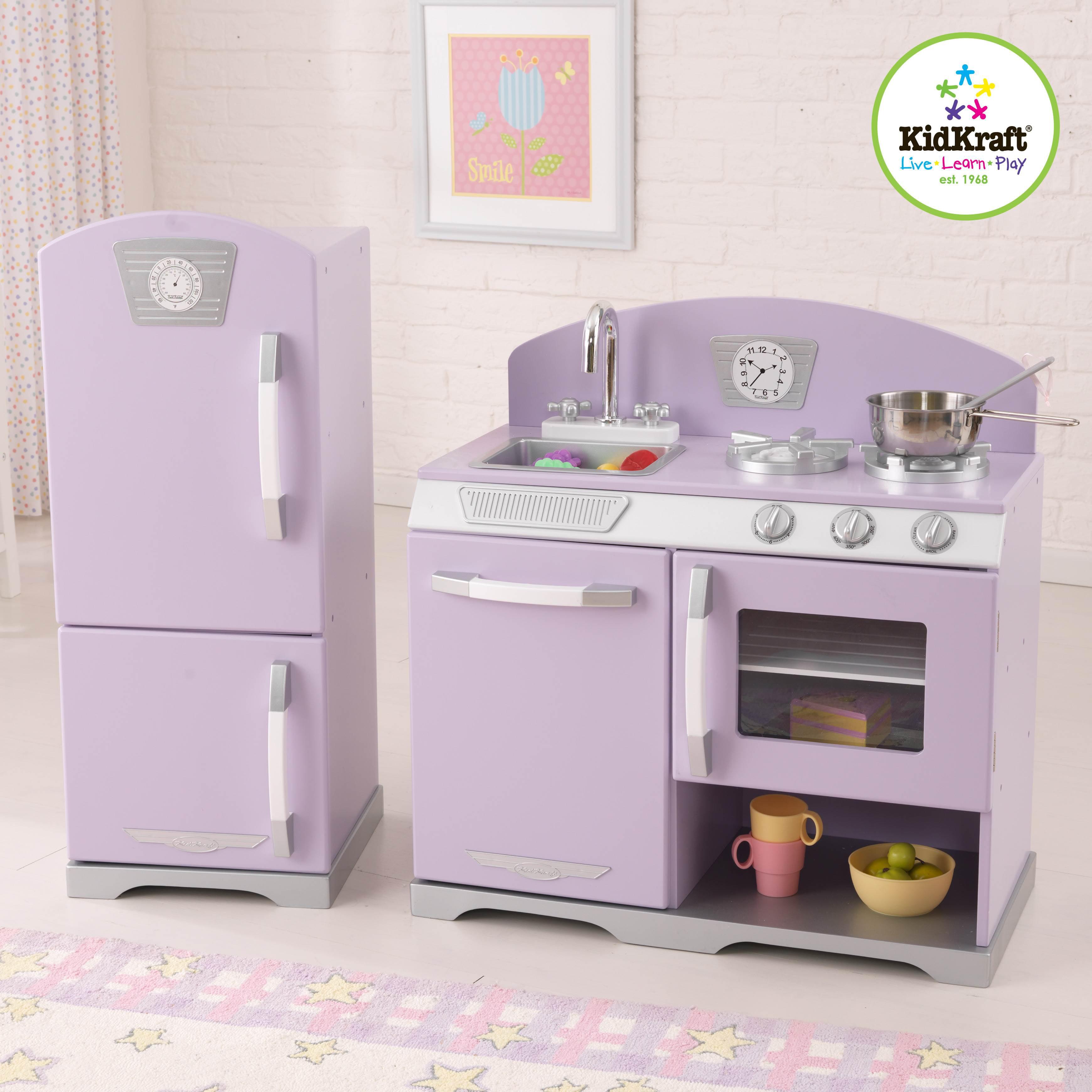 Kidkraft 2 Piece Lavender Retro Kitchen