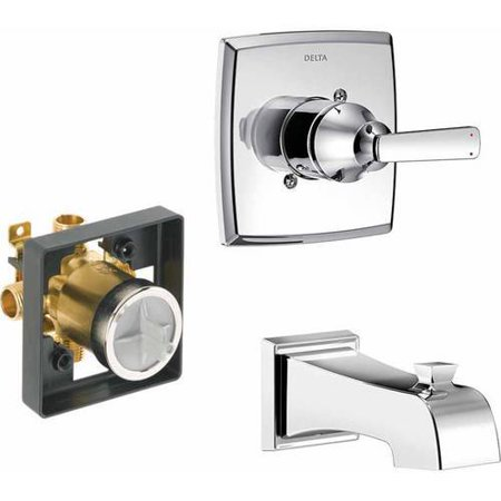 - Delta Ashlyn Wall Mounted Single Function Bath Faucet, Available in Various Colors