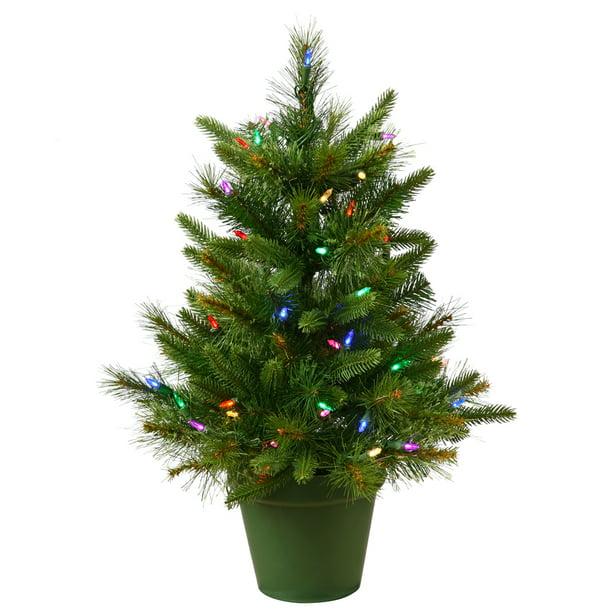 "Vickerman Artificial Christmas Tree 24"" x 21"" Cashmere ..."