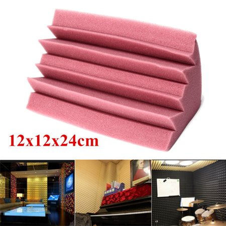 1 Pack Bass Trap Acoustic Studio Foam Sound Absorber Soundproofing Corner Wall 4.7'' x 4.7'' x 9.4'' ()