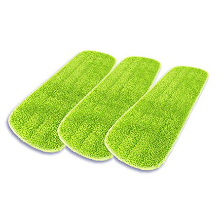"Microfiber Mop Pad 3 Pack - 17"" Wet and Dry Mop Head Refills for Wet, Dry, Scrubbing and Dusting on all floor Surfaces"