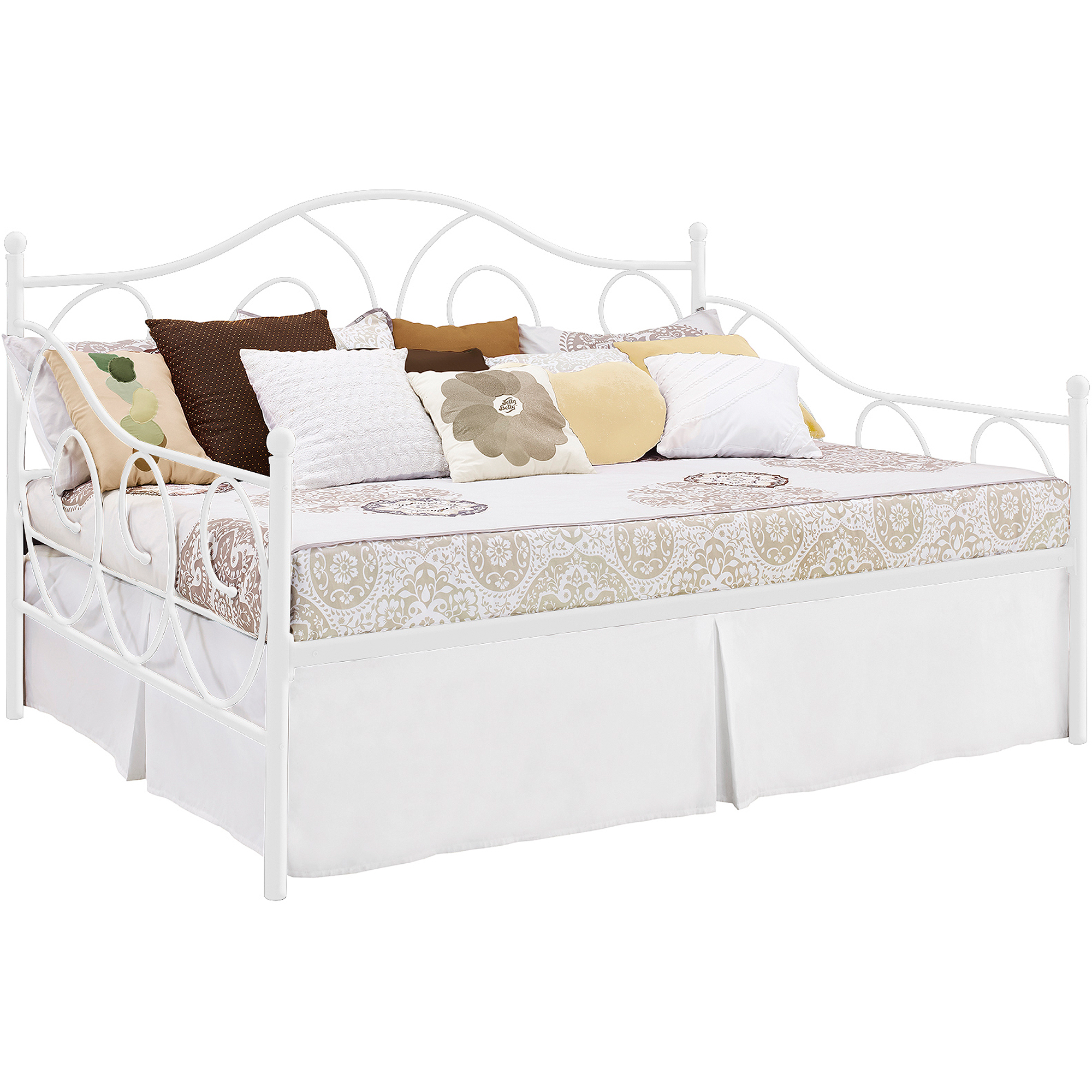 DHP Victoria Full Size Metal Daybed Frame, Multiple Colors - Walmart.com
