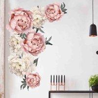 Staron Peony Rose Flowers Wall Sticker Art Nursery Decals Kids Room Home Decor Gift