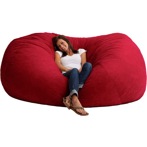 XXL 7' Fuf Comfort Suede Bean Bag, Multiple Colors