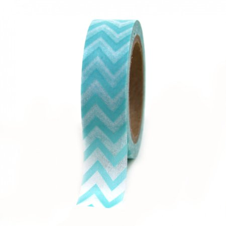 Dress My Cupcake Washi Paper Tape, Chevron, Diamond Blue](Blue Washi Tape)