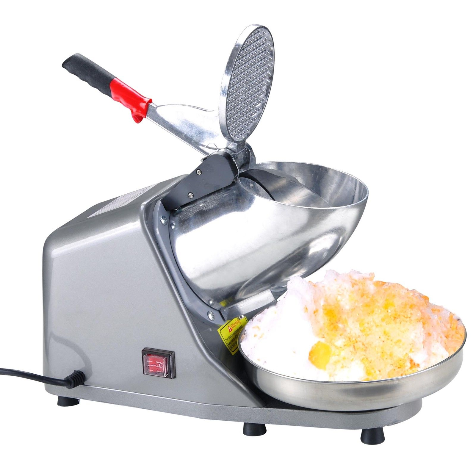 GHP 143Lbs Hr Capacity 200W Electric Snow Cone Maker Ice Crusher Shaving Machine by