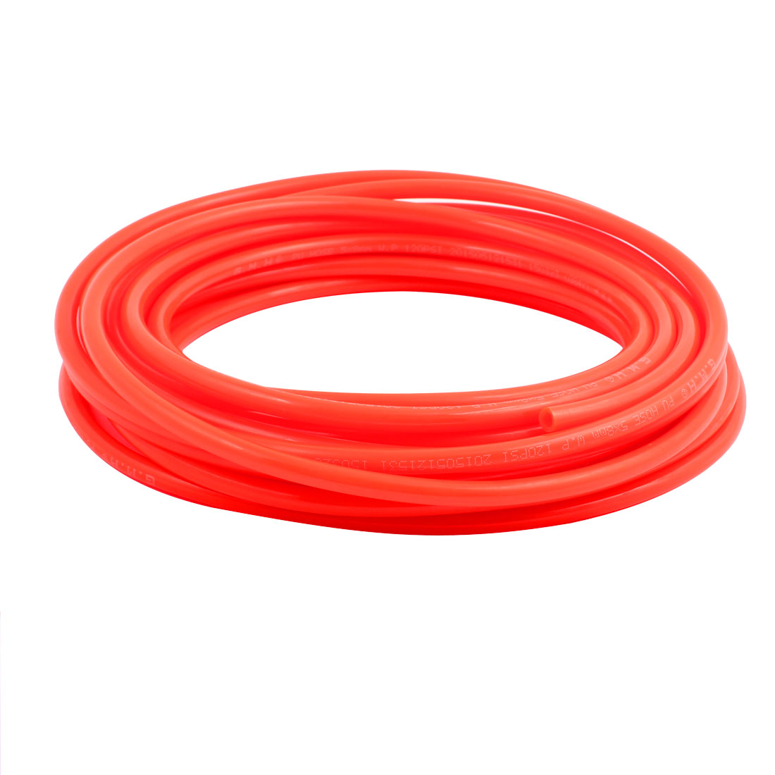 5mm x 8mm Flexible Pneumatic Polyurethane PU Hose Pipe Tube Orange 10m Length