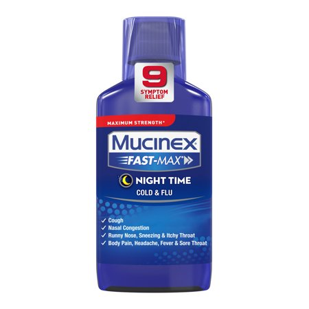 Mucinex Fast-Max Night Time Cold & Flu Liquid,