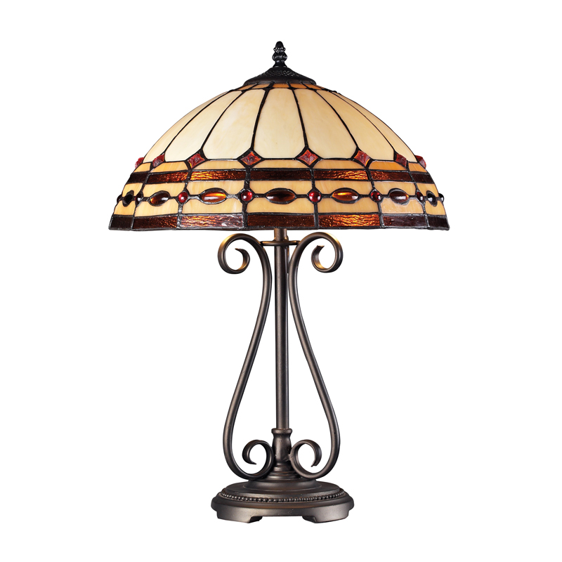 Landmark Lighting 70165-2 Diamond Ring Burnished Copper Table Lamp