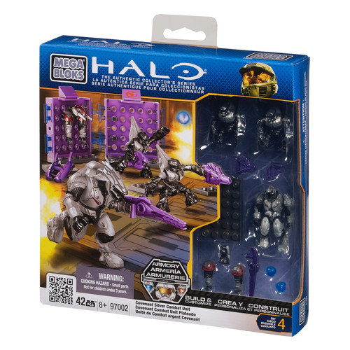 Halo Covenant Silver Combat Unit Set Mega Bloks 97002