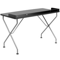 Flash Furniture Writing Desk with Silver Frame, Multiple Colors