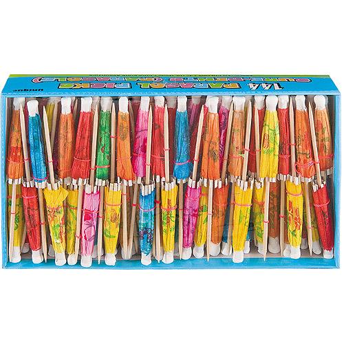 Tropical Drink Umbrella Picks, 144ct, Assorted Colors