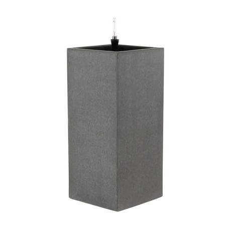 Decmode 27 X 12 Inch Contemporary Vertical Concrete Planter, Dark (Vertical Concrete)