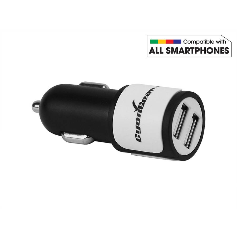 CyonGear Universal High-Power 10-Watt/2.1-Amp Dual USB Car Charger (microUSB Cable Included)