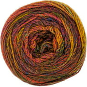 Red Heart Yarn Roll With It Melange-Curtain Call