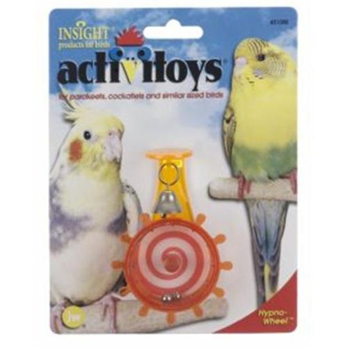 JW Pet Company 080-31088 JW Pet Company Activitoy Hypno Wheel Bird Toy for Keets and Tiels Assorted Colors