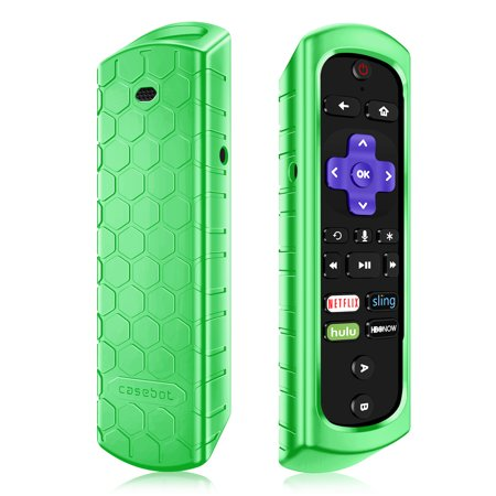 Anti Shock Light - Fintie Case for Roku Ultra/Roku 4 3 2 1 Remote Light Weight [Anti Slip] Shock Proof Silicone Cover